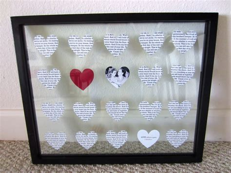1 year anniversary ideas for diy diy wedding anniversary gift in