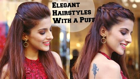 perfect hair styles for party occasions indian gorgeous 2 min elegant hairstyles with a puff for a cocktail party