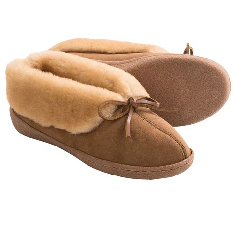 shearling slippers for clarks faced shearling bootie slippers for