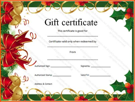 free gift certificate template downloads gift certificate template free