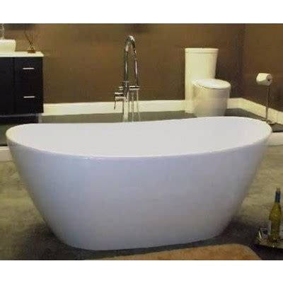 65 inch bathtub freestanding cultured marble double slipper tub 65 inch