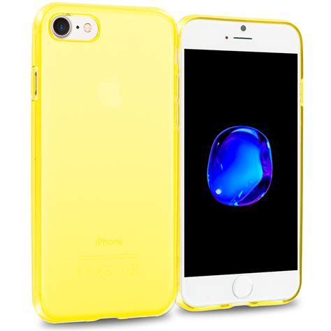yellow tpu rubber cover for apple iphone 7 casedistrict