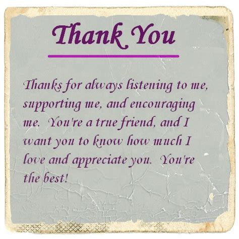 thank you letter to friend exle thank you for your friendship letter and quotes