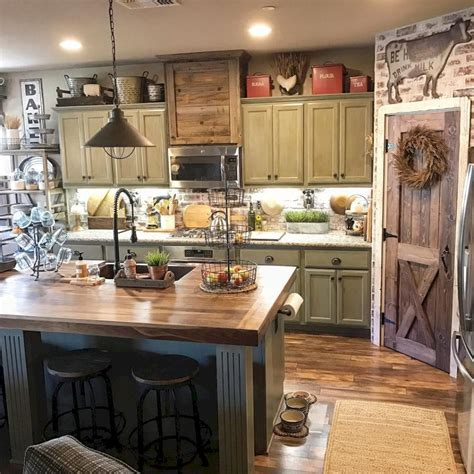 30 rustic farmhouse kitchen decor ideas homeylife com