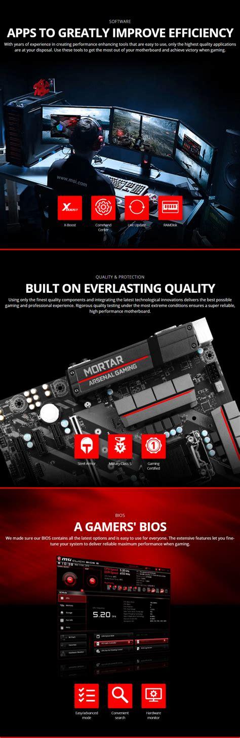 Motherboard Intel Msi Z270m Mortar msi z270m mortar motherboard msi z270m mortar pc gear