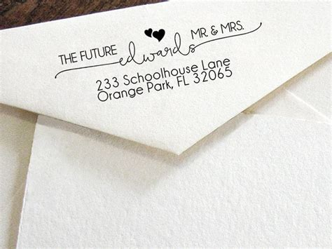 Wedding Announcement Return Address custom return address st modern calligraphy st