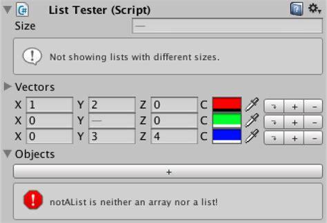 unity tutorial list custom list a unity c editor tutorial