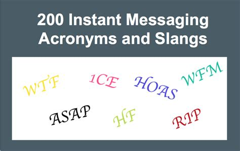 Im Acronyms Instant Messaging Slang And Abbreviations | top 200 instant messaging acronyms and slang list 187 webnots