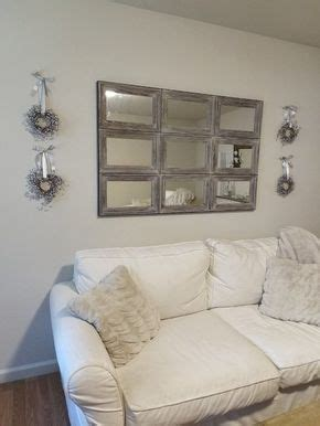 aiden extra large wall mirror   rustic wall