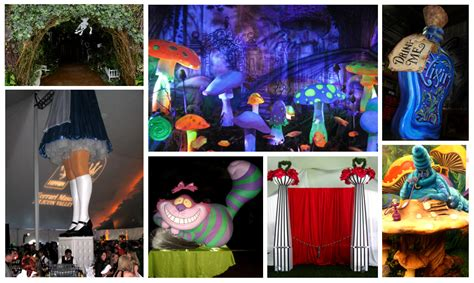 Sixties Home Decor by Alice In Wonderland Theme Parties And Props Rick Herns