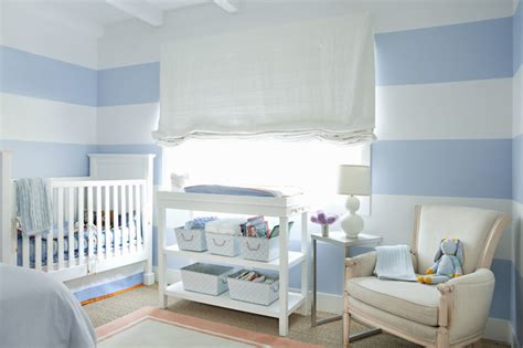 blue striped walls striped nursery walls design ideas