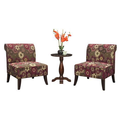 Accent Chair And Table Set Ave Six 3 Chair And Accent Table Set Wayfair