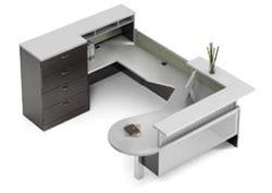 Zira Reception Desk Global Zira Series Contemporary Reception Desk Configuration