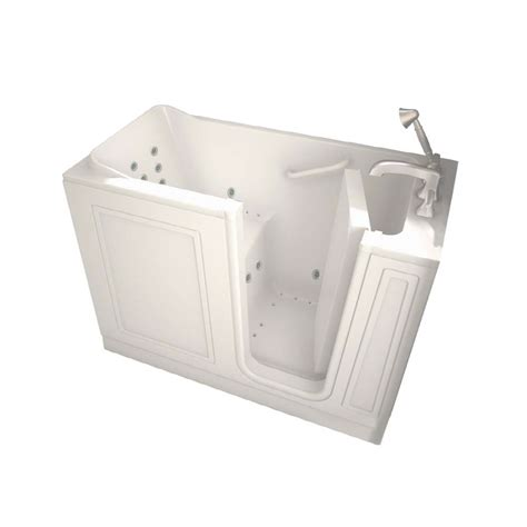 walk in bathtubs lowes shop american standard walk in baths walk in bath 48 in l