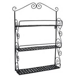 Metal Bathroom Wall Shelves Classic Black Metal Wall Mounted Shelves Kitchen Spice Rack Bathroom New Ebay