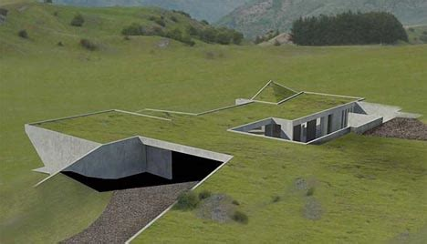 invisible set of green homes to be underground