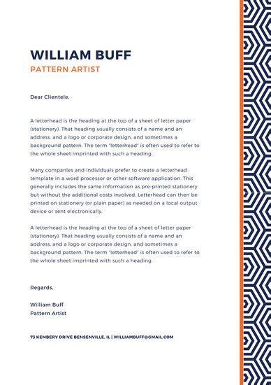 personal letterhead template personal letterhead templates canva