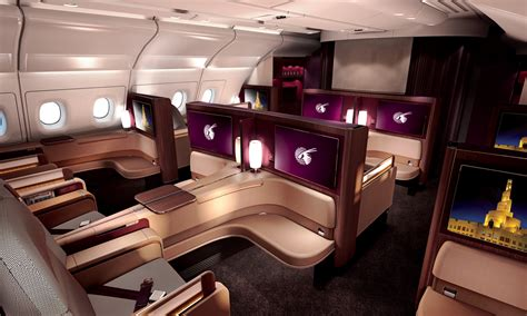 Qatar A380 Cabin by Qatar Airways Unveils Its A380 Class Seat