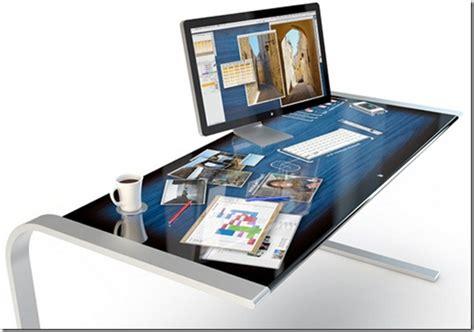 futuristic computer desk concept future computer desk for users mac and iphone
