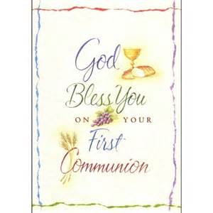 god bless you communion greeting card the catholic