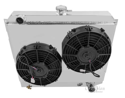 electric radiator fans and shrouds charger radiator shroud w dual 10 quot fans fits chion