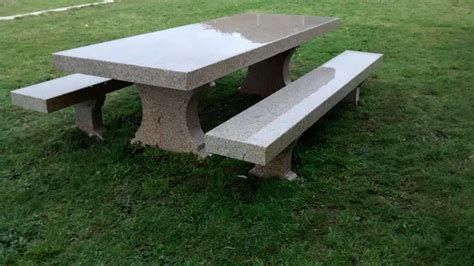 mesa piedra jardin mesa de piedra para jard 237 n realizada a mano construper