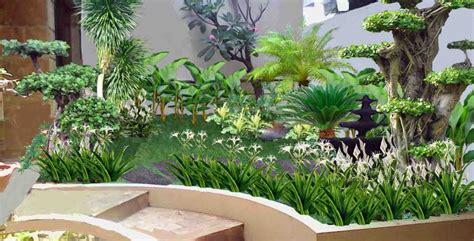 taman cantik rumah minimalis dafhynet