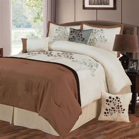 embroidered comforter set lavish home brooke 7 piece embroidered comforter set