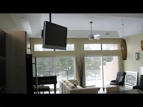 ceiling tv installation youtube