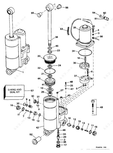 Evinrude 1994 50 E50beere Power Trim Tilt Parts Catalog