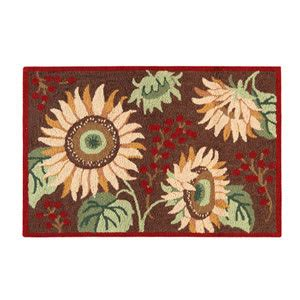c f enterprises hooked rugs sunflowers hooked rug 2 x 3 c f enterprises