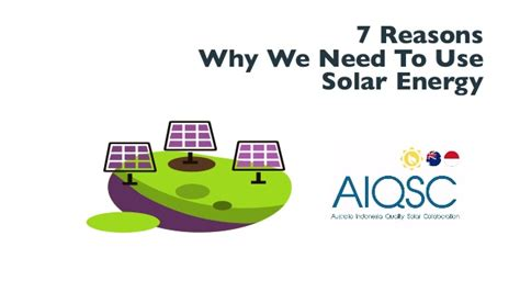 7 Reasons To Use by 7 Reasons Why We Need To Use Solar Energy