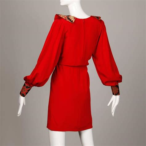 amen wardy amen wardy vintage asian inspired red silk dress with