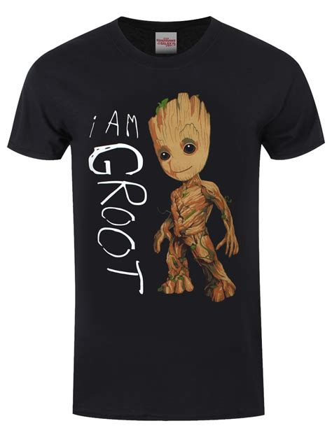 T Shirt I Am guardians of the galaxy i am groot s black t shirt