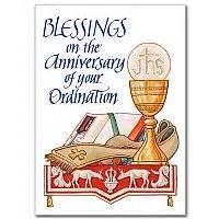 happy anniversary of ordination ordination anniversary card
