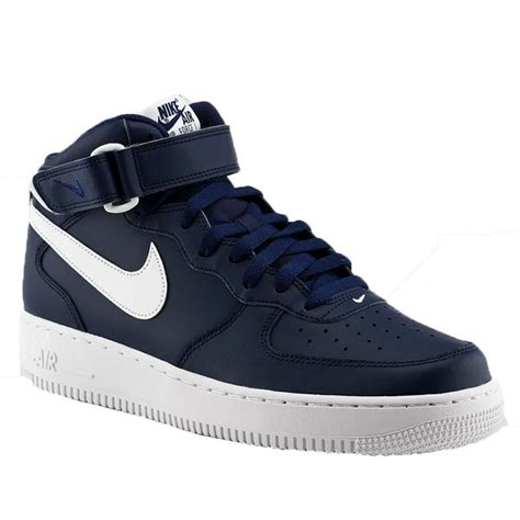 Nike Air 1 Navy by Nike Nike Air 1 Mid 07 Midnight Navy White A6