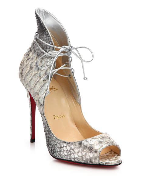 louboutin light up shoes lyst christian louboutin megav python embossed