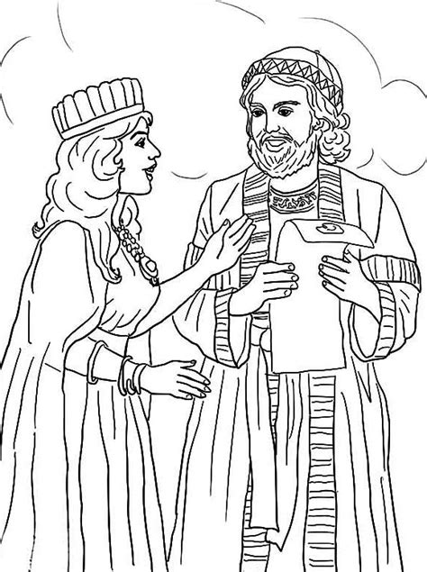 esther coloring pages esther and mordecai with edict coloring pictures