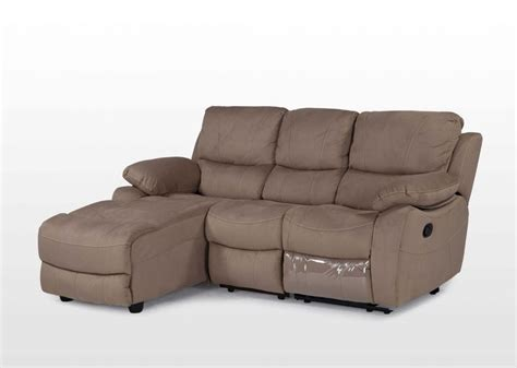 suede chaise contemporary suede 3 seater recliner sofa with chaise