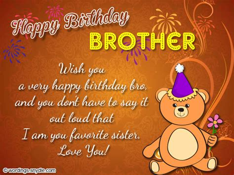 Happy Birthday Wishes For Siblings Birthday Wishes For Brother Wordings And Messages