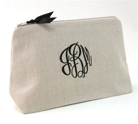 monogrammed cosmetic bag personalized makeup bag