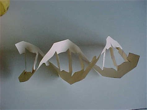 Chemistry Origami - science tutor how to make a paper model of dna
