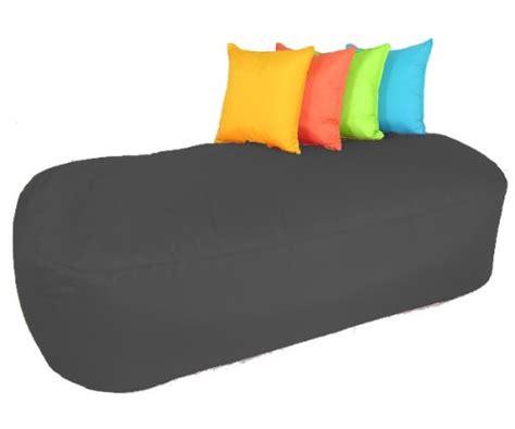 5 Foot Loveseat 5ft Beanbag Sofa Black Indoor Outdoor Bean Bag