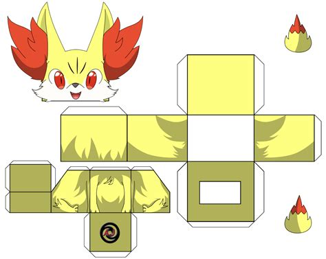 Papercraft Printable - cubecraft x y papercraft fennekin cubecraft