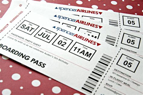 airline ticket template invitation airplane ticket invitation printable birthday by