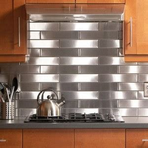 lowes stainless steel backsplash wood floors in kitchen