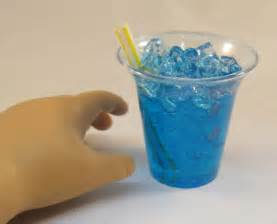 Modern Silverware slushie blue icee doll food made for 18 quot american girl
