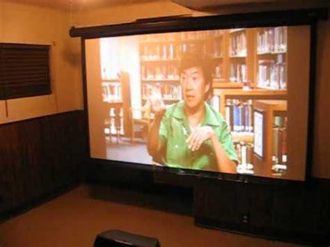 mitsubishi xdu home theater projector set  youtube