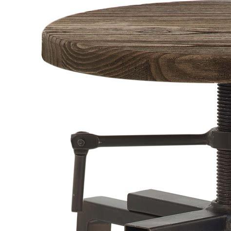 sgabelli acciaio sgabello da bar industrial turner in legno ed acciaio scuro