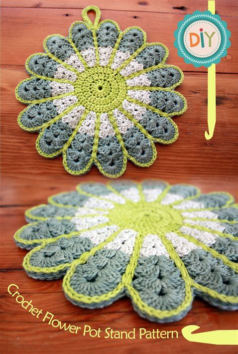 pattern for magic crochet pot holders colorful crochet flower pot holder with free pattern